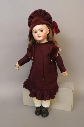 S.f.b.j. Bisque Head Doll,