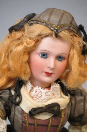 Bisque Head Doll,