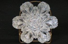 Hawkes Cut Glass Floraform Dish,