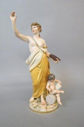 "Meissen Porcelain Figurine ""arts"","