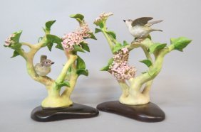 Pair Of Cybis Porcelain Bird Figurines,