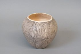 Acoma Indian Pottery Vase Or Olla By Bo Concho