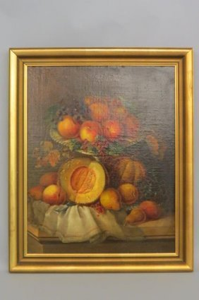 Fine 19th Century Still Life With Fruit,
