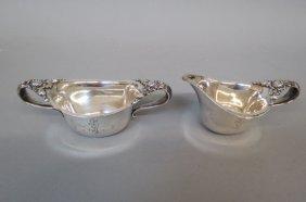 Tiffany Sterling Silver Cream And Sugar,