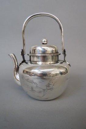 Oriental Sterling Silver Teapot,