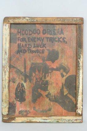 New Orleans Folk Art Voodoo Painting,