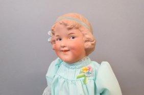"""Huebach Bisque Head Doll, """"coquette"""""""