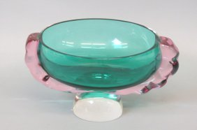 Studio Art Glass Centerpiece Bowl,