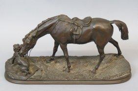 P.j. Mene Bronze Statue,