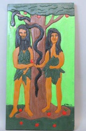 Charles Gilliam, Sr. Folk Art Painting,