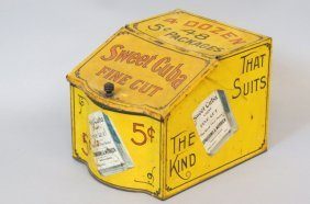"Early Tobacco Store Tin ""sweet Cuba"","