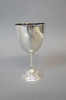 English Sterling Silver Goblet,