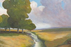 """D. Averill Smith Oil Painting """"approaching Storm"""""""
