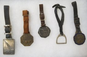 Collection Of 5 Vintage Watch Fobs,