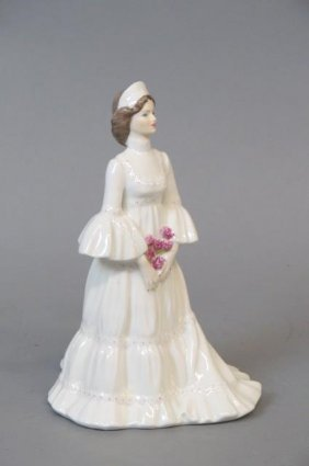"Coalport Bone China Figurine ""the Bride"","