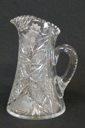 Cut Glass Pitcher,