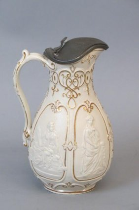 W.b. English Parian Pitcher,