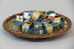 20 Chinese Cloisonne Napkin Rings,