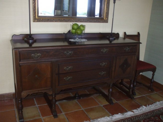 Antique 72 Quot Walnut Wood Buffet Table Lot 54