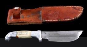 Ruana 14B Skinner Knife & Scabbard Bonner Montana