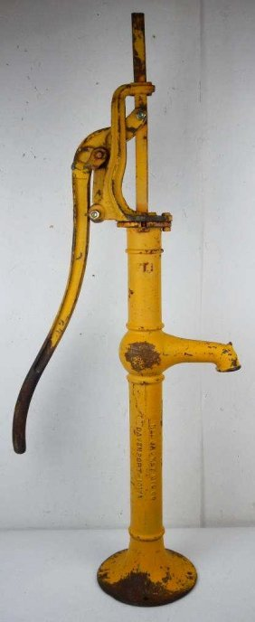 Antique Red Jacket Water Pump : Lot 385