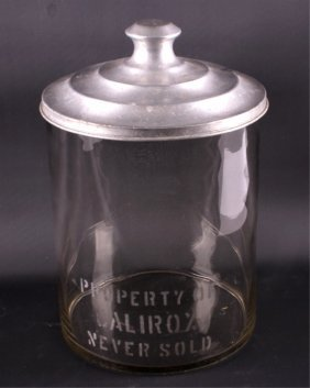 Calirox Glass Cookie Jar