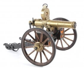 Gatling Gun 1885 Brass Functioning Model