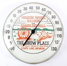 Wagon Wheel Saloon Harvey's Casino Thermometer