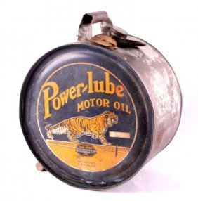 Rare Power-lube Motor Oil Can