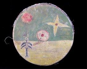Kiowa Painted & Beaded Drum C. 1840-1880