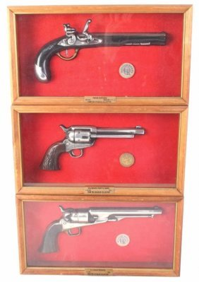 Seagram Whiskey Advertising Pistol Displays