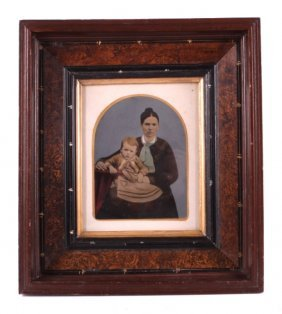 Antique Framed Pennellograph Tintype Photograph