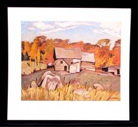 """A.j. Casson (1898-1992) """"farm Near Baptiste"""" Print"""