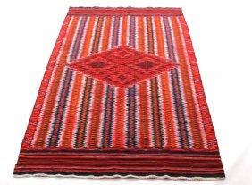 Navajo Eye Dazzler Wearing Blanket Circa 1900-1930