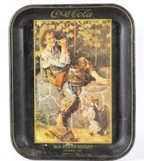 Coca-cola Old Oaken Bucket 1932 Tray