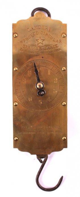 Antique Lander's Spring Balance Scale