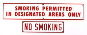 Antique Porcelain Enamel No Smoking Signs