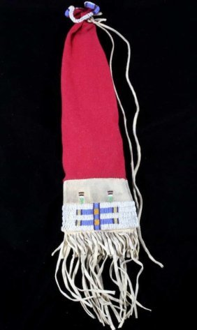 Northern Plains Beaded Pipe Bag Early 1900