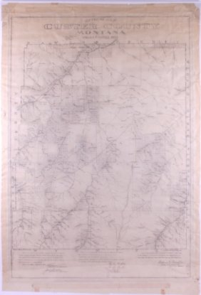 1903 Custer County Montana Map