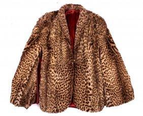 Antique Ladies Leopard Fur Coat RARE