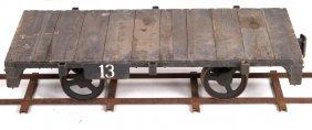 "Early Railroad Flat Car 7.5"" Gauge Live Steam"