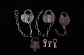 Antique Lock And Key Collection