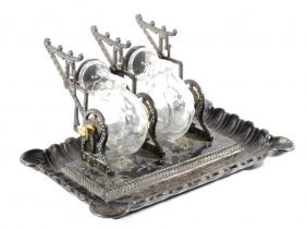 Clipper Snail Shell Bottle Cast Iron Inkwell 19th