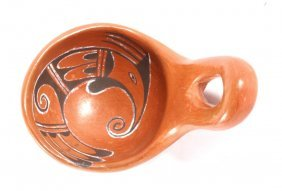 Hopi Indian Pottery Water Ladle By Edith Nash
