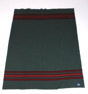 Pendleton Green And Red Stripe Blanket