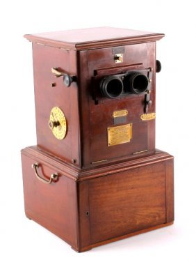 Antique French Le Taxiphote Cabinet Stereo Viewer