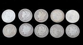 1879-1901 Morgan Silver Dollars Consecutive (10)