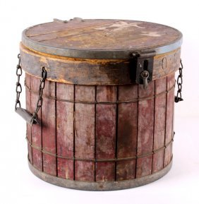 Antique Miners Oyster Bucket From Butte Montana