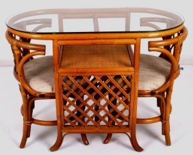 Bentwood Nesting Table And Chairs