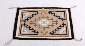Early Navajo Indian Two Grey Hills Rug